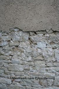Mauerwerk nach der Putzentfernung